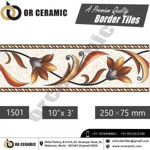 1501 Digital Border Tiles | OR Ceramic Morbi