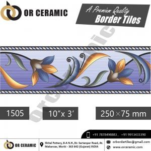 1505 Digital Border Tiles | OR Ceramic Morbi
