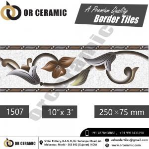 1507 Digital Border Tiles | OR Ceramic Morbi