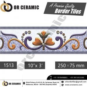 1513 Digital Border Tiles | OR Ceramic Morbi