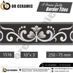 1516 Digital Border Tiles | OR Ceramic Morbi