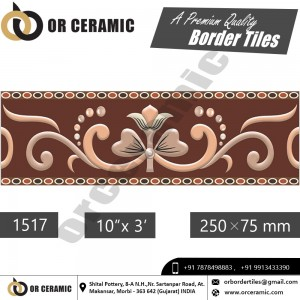 1517 Digital Border Tiles | OR Ceramic Morbi