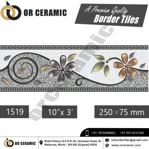 1519 Digital Border Tiles | OR Ceramic Morbi