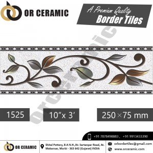 1525 Digital Border Tiles | OR Ceramic Morbi