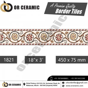 1821 Digital Border Tiles | OR Ceramic Morbi