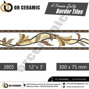3805 Digital Border Tiles | OR Ceramic Morbi