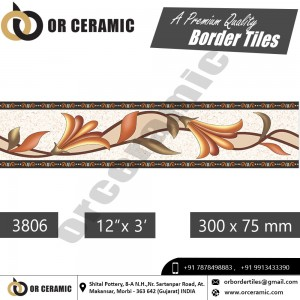 3806 Digital Border Tiles | OR Ceramic Morbi