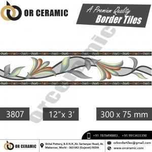 3807 Digital Border Tiles | OR Ceramic Morbi