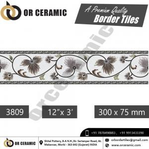 3809 Digital Border Tiles | OR Ceramic Morbi
