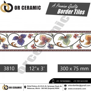 3810 Digital Border Tiles | OR Ceramic Morbi