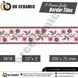 3818 Digital Border Tiles   OR Ceramic Morbi