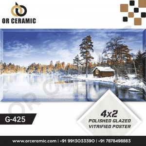 G-425 Natural Snow | Wall Poster Picture Tiles