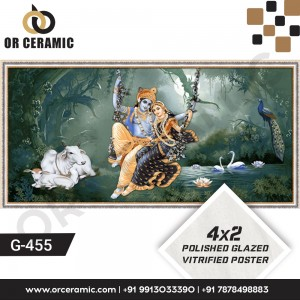 G-455 Lord Krishna | Wall Poster Picture Tiles