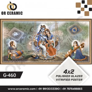 G-460 Lord Krishna   Wall Poster Picture Tiles