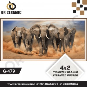 G-479 Five Elephant | Wall Poster Picture Tiles