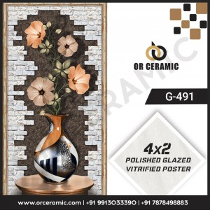 G-491 Flower Pot | Wall Poster Picture Tiles
