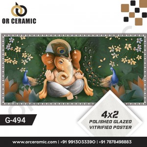 G-494 Lord Ganesha | Wall Poster Picture Tiles
