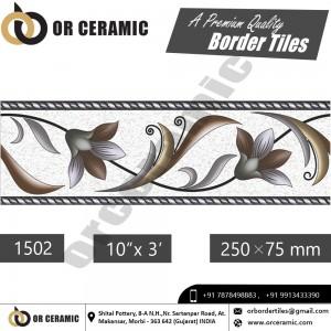 1502 Digital Border Tiles | OR Ceramic Morbi