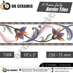 1504 Digital Border Tiles | OR Ceramic Morbi