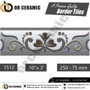 1512 Digital Border Tiles | OR Ceramic Morbi