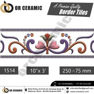1514 Digital Border Tiles | OR Ceramic Morbi