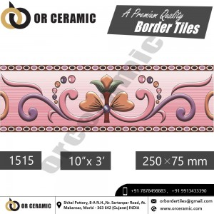 1515 Digital Border Tiles | OR Ceramic Morbi