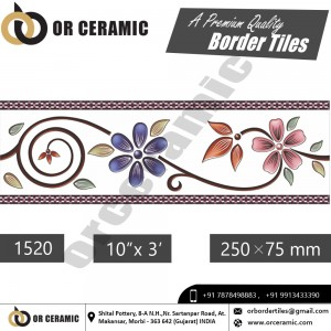 1520 Digital Border Tiles | OR Ceramic Morbi
