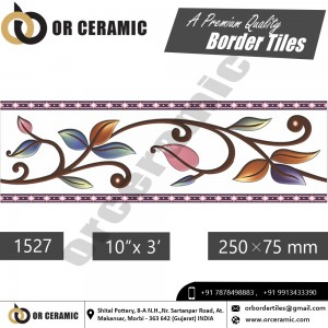 1527 Digital Border Tiles | OR Ceramic Morbi