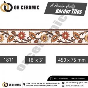 1811 Digital Border Tiles | OR Ceramic Morbi