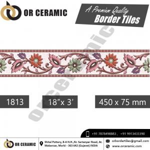 1813 Digital Border Tiles | OR Ceramic Morbi
