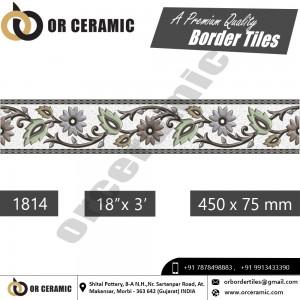 1814 Digital Border Tiles | OR Ceramic Morbi