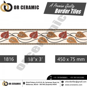 1816 Digital Border Tiles | OR Ceramic Morbi