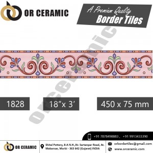1828 Digital Border Tiles | OR Ceramic Morbi