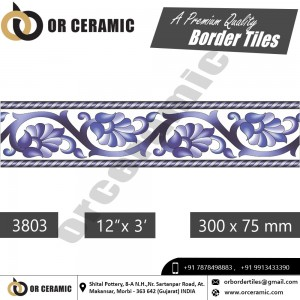 3803 Digital Border Tiles | OR Ceramic Morbi