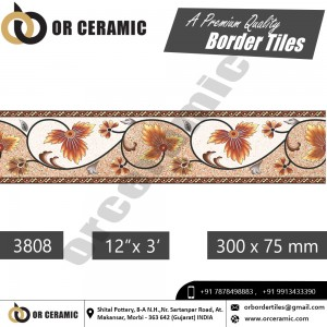 3808 Digital Border Tiles | OR Ceramic Morbi