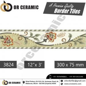 3824 Digital Border Tiles | OR Ceramic Morbi