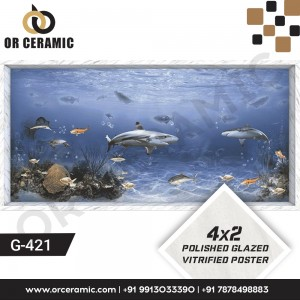 G-421 Whale Fish | Wall Poster Picture Tiles