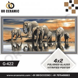 G-422 Seven Elephant | Wall Poster Picture Tiles