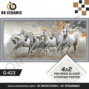 G-423 White Horse | Wall Poster Picture Tiles