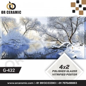 G-432 Tree and Snow | Wall Poster Picture Tiles
