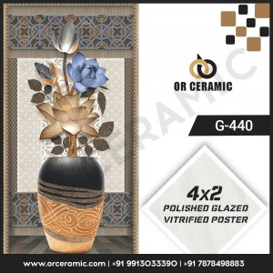 G-440 Flower Pot   Wall Poster Picture Tiles