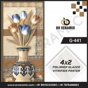 G-441 Flower Pot   Wall Poster Picture Tiles