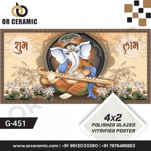 G-451 Lord Ganesha | Wall Poster Picture Tiles