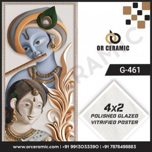 G-461 Lord Krishna   Wall Poster Picture Tiles