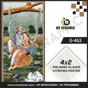 G-463 Lord Krishna | Wall Poster Picture Tiles