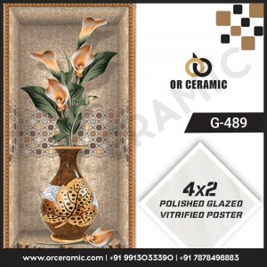 G-489 Flower Pot | Wall Poster Picture Tiles