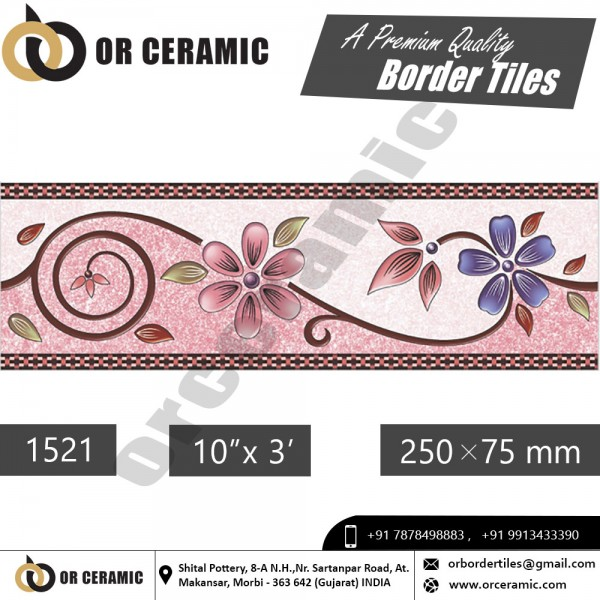1521 Digital Border Tiles | OR Ceramic Morbi