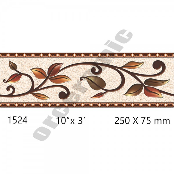 1524 Digital Border Tiles | OR Ceramic Morbi