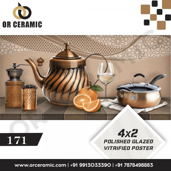 171 Kitchen Wall Poster Tiles   OR Ceramic