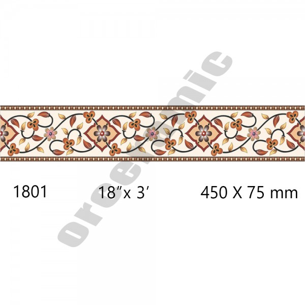 1801 Digital Border Tiles | OR Ceramic Morbi